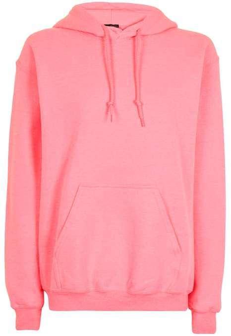 Topshop oversized sweatshirt in pink