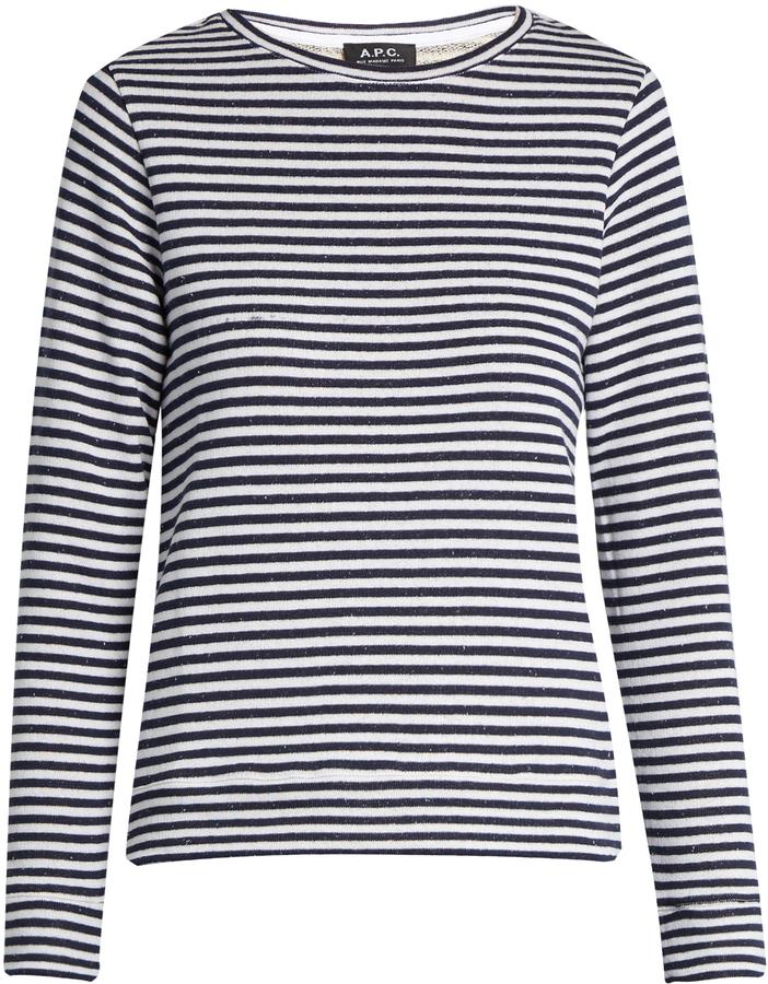 A.P.C long sleeved stripe tee