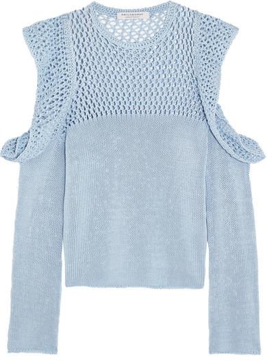 Philosophy di Lorenzo Serafini - cutout open knit sweater