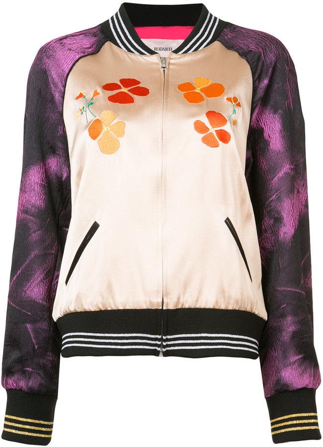Rodarte contrast panel bomber jacket