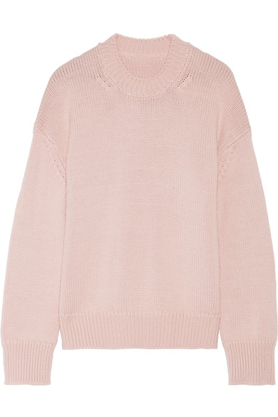 - WOOL SWEATER IN PASTEL PINK $395