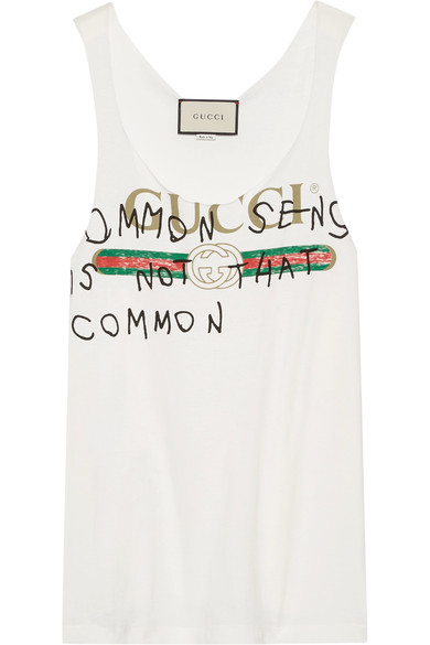 - PRINTED COTTON JERSEY TANK $450  *PHOTO VIA NET-A-PORTER