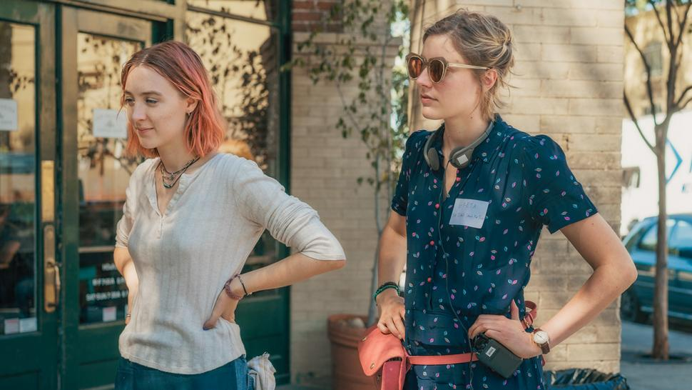 "Greta Gerwig directing ""Lady Bird"" starring Saoirse Ronan"