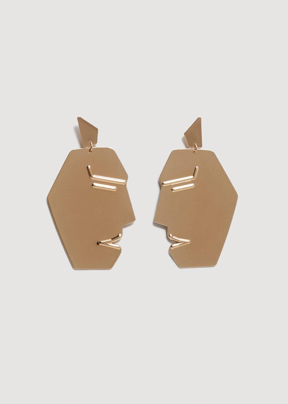 - FACE EARRINGS / Mango $20