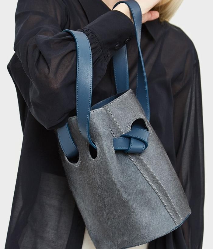 Trademark 'Goodall Bucket Bag' in slate