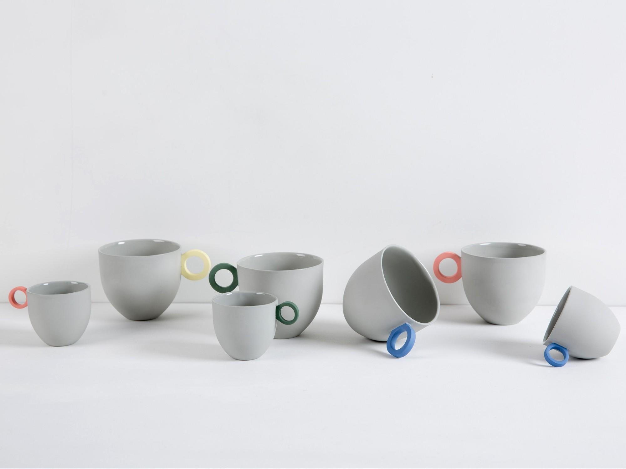 - SYROS GREY ESPRESSO CUP SET / Anna Jones Ceramics available at Tictail $128
