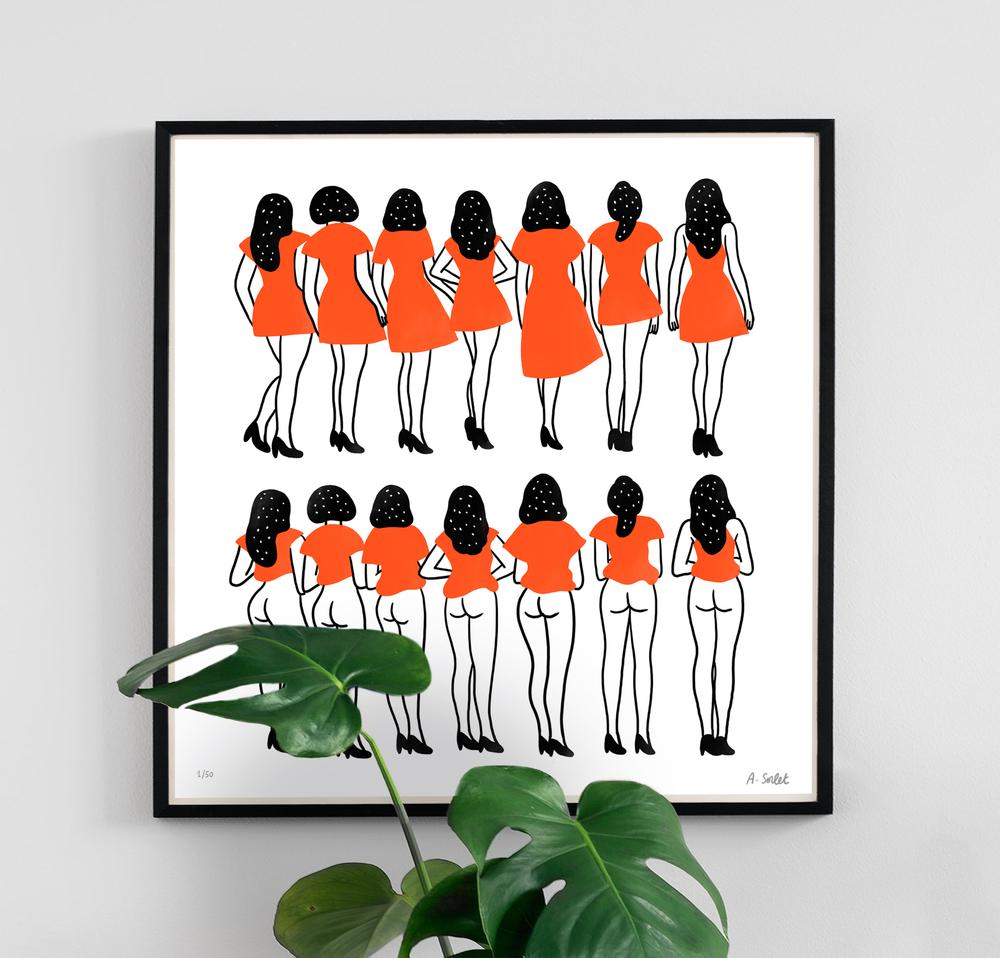 - Sous les jupes des filles. (Under the girls skirts) 50 EUR