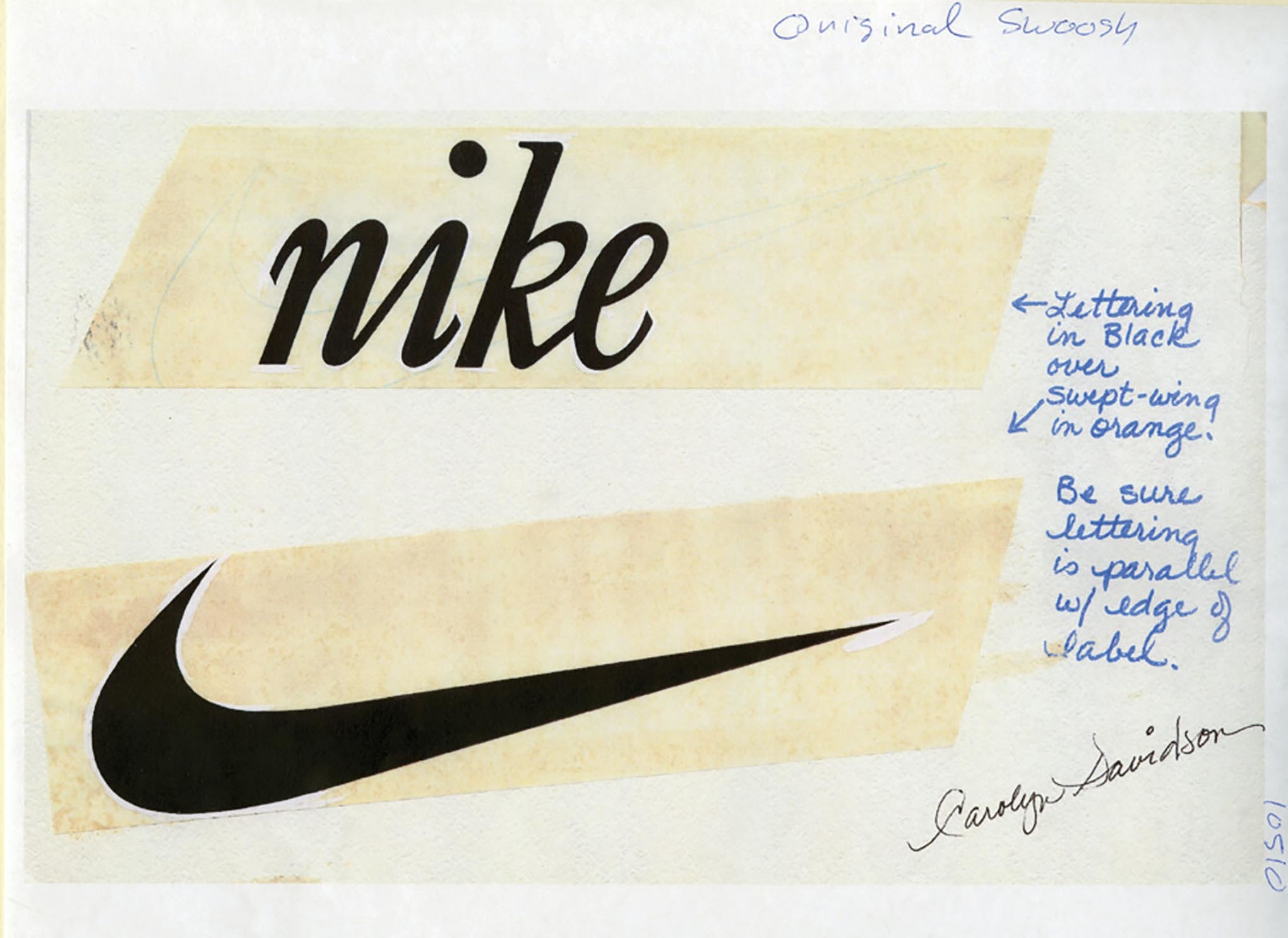 The birth of the nike swoosh designed by Carolyn Davidson