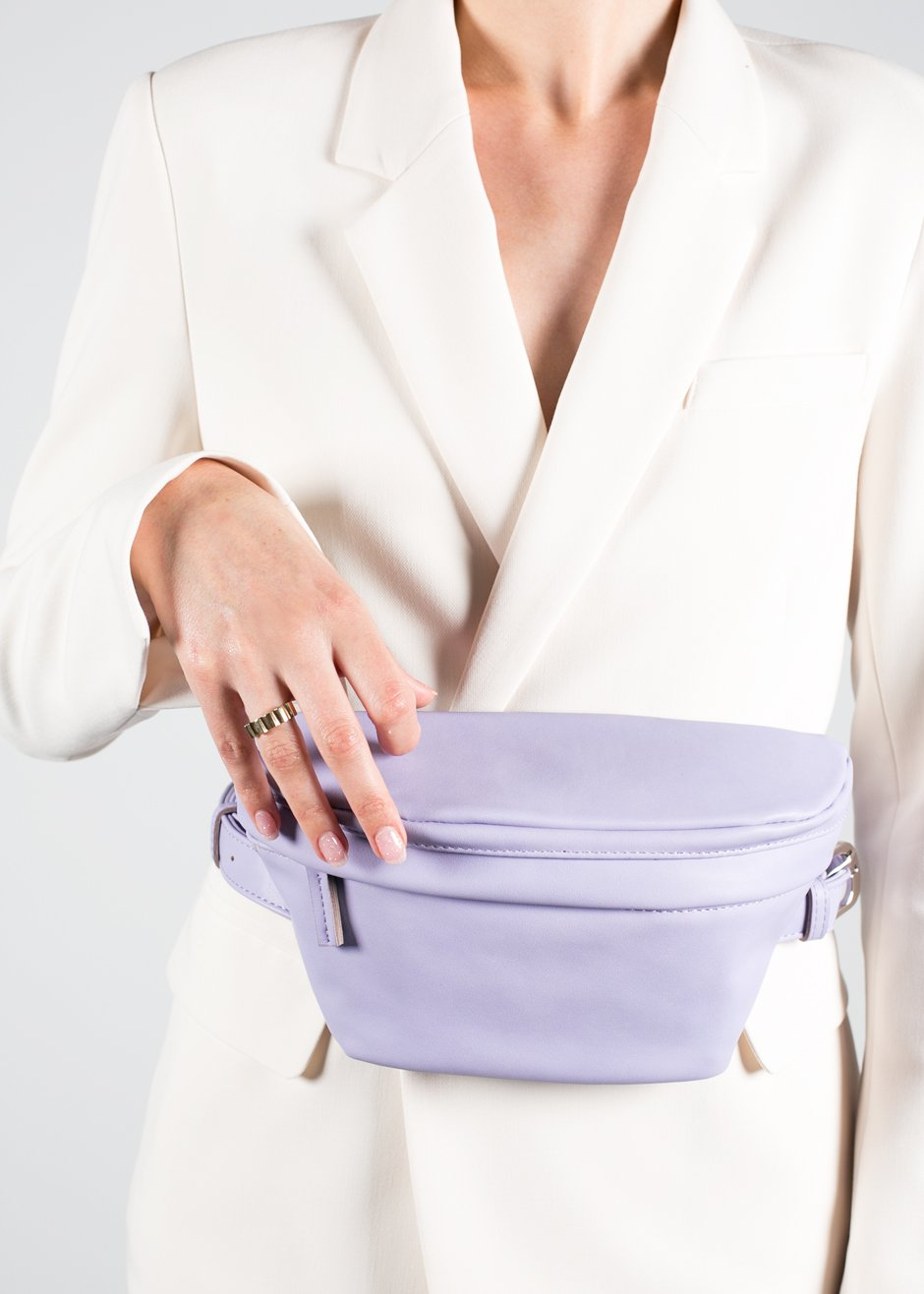- Frankie Shop / Lilac Faux Leather Fanny Pack