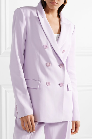 - Tibi / Double-Breasted Crepe Blazer