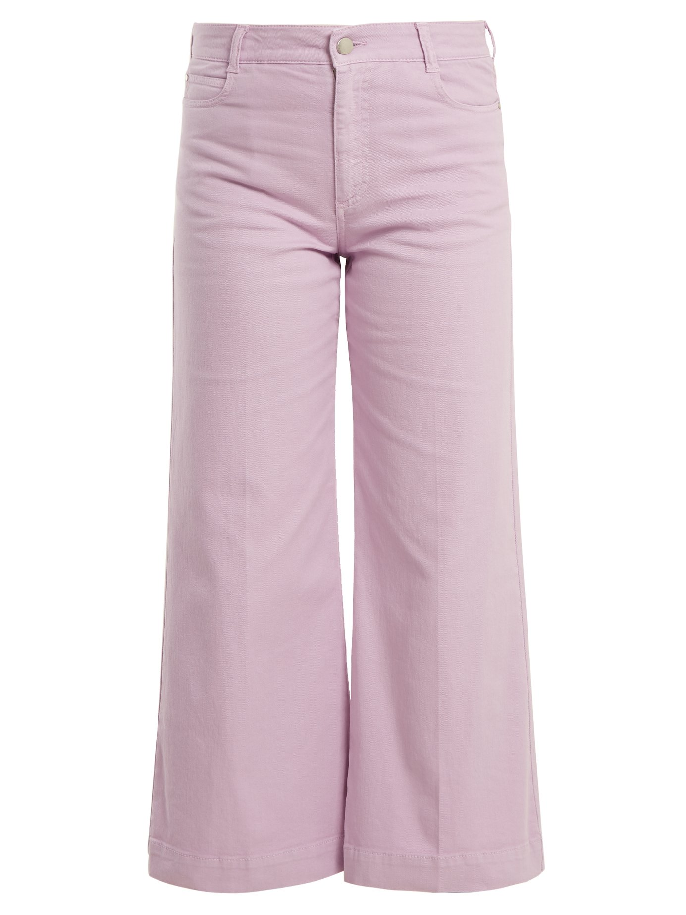 - Stella McCartney / Wide-Leg Cropped Jeans