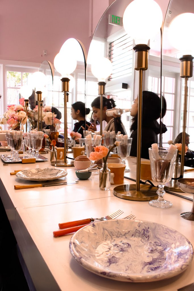 Glossier Pop-Up at Rhea's Cafe // DNAMAG