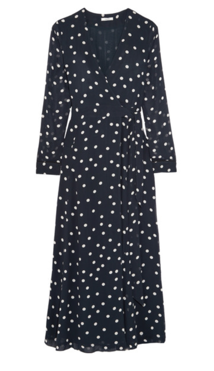 - POLKA-DOT CHIFFON DRESS / Ganni $175 available at Net-a-Porter