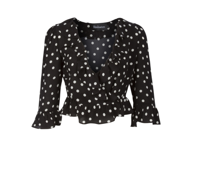- THE CHER POLKADOT TOP / Realisation Par $140