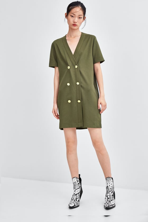 - DOUBLE-BREASTED WRAP DRESS / Zara $35.90