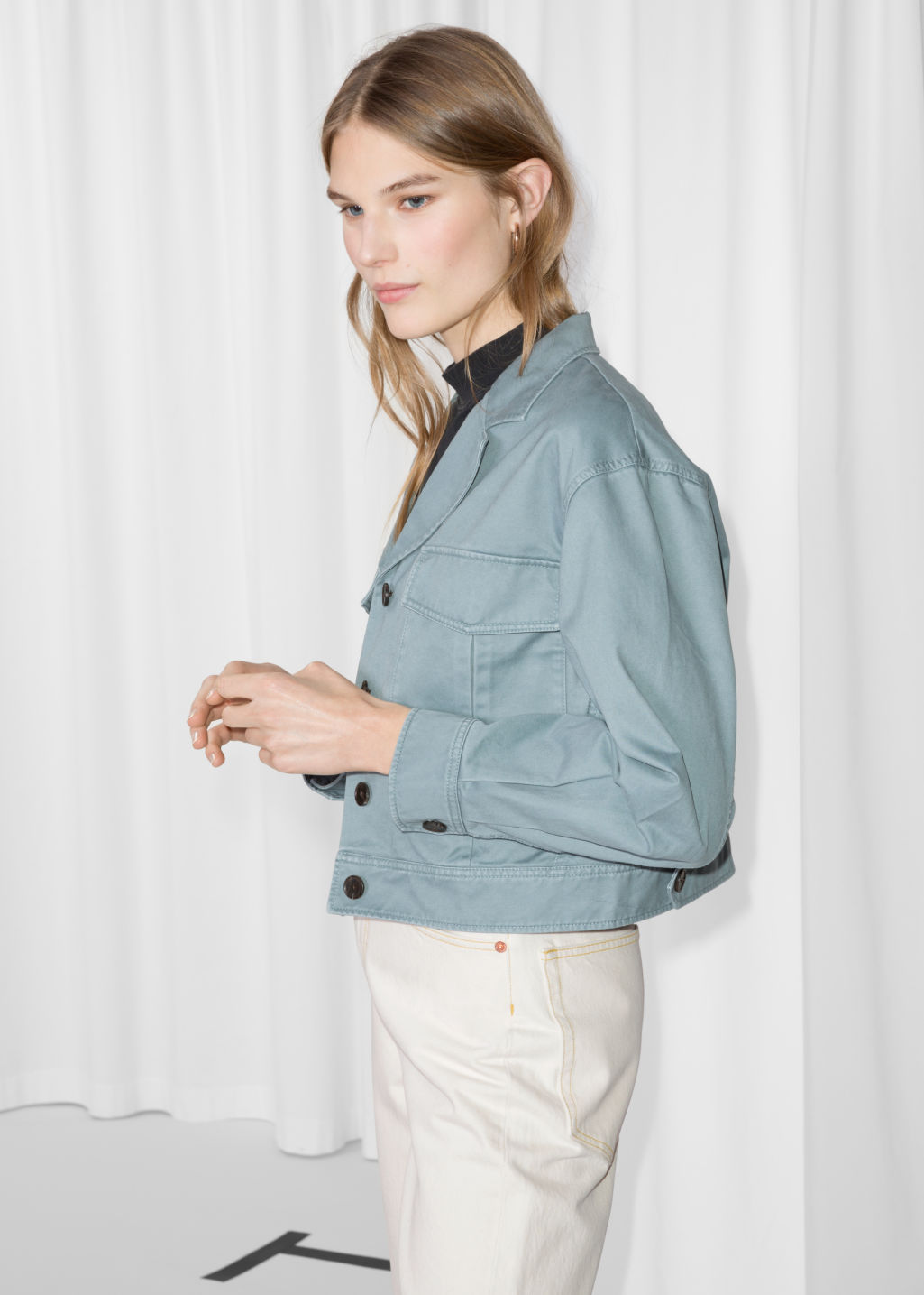 Cropped Utilitarian Jacket by & Other Stories $115