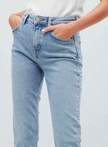 Way high waist skinny jeans by Weekday $64