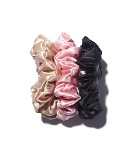 SLIP SILK SCRUNCHIES / Slip $39 - It's a pack of 3 silk scrunchies, go for some luxury.
