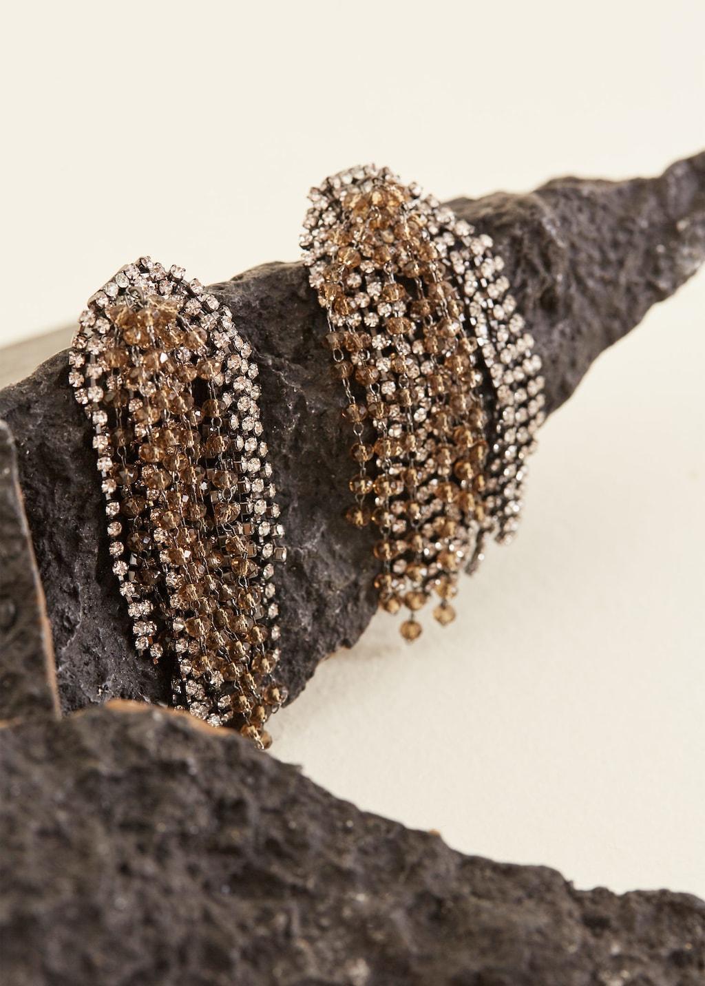 Mango rhinestone crystal earrings