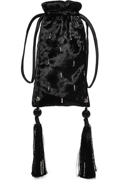 Embellished Velvet Pouch by Attico $250