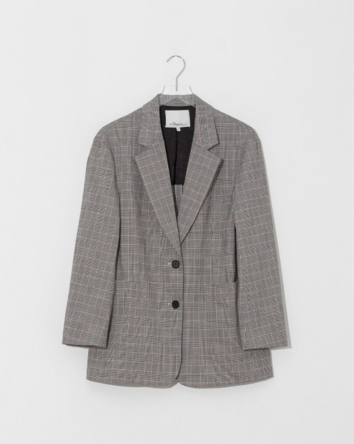 Black and White Checkered Oversized Blazer by 3.1 Phillip Lim $795