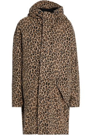 R13 / LEOPARD PRINT GABARDINE HOODED COAT $357 - available at The Outnet