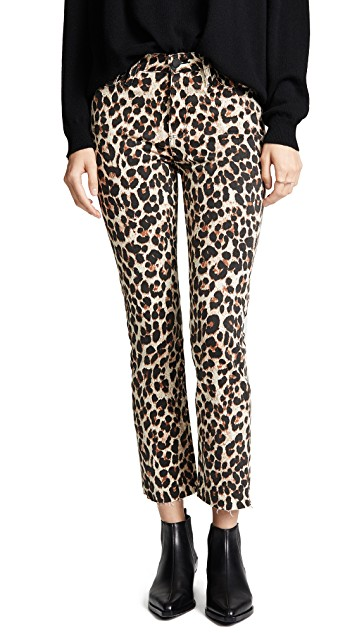 PAIGE / HOXTON LEOPARD STRAIGHT ANKLE JEANS $219  - available at Shopbop