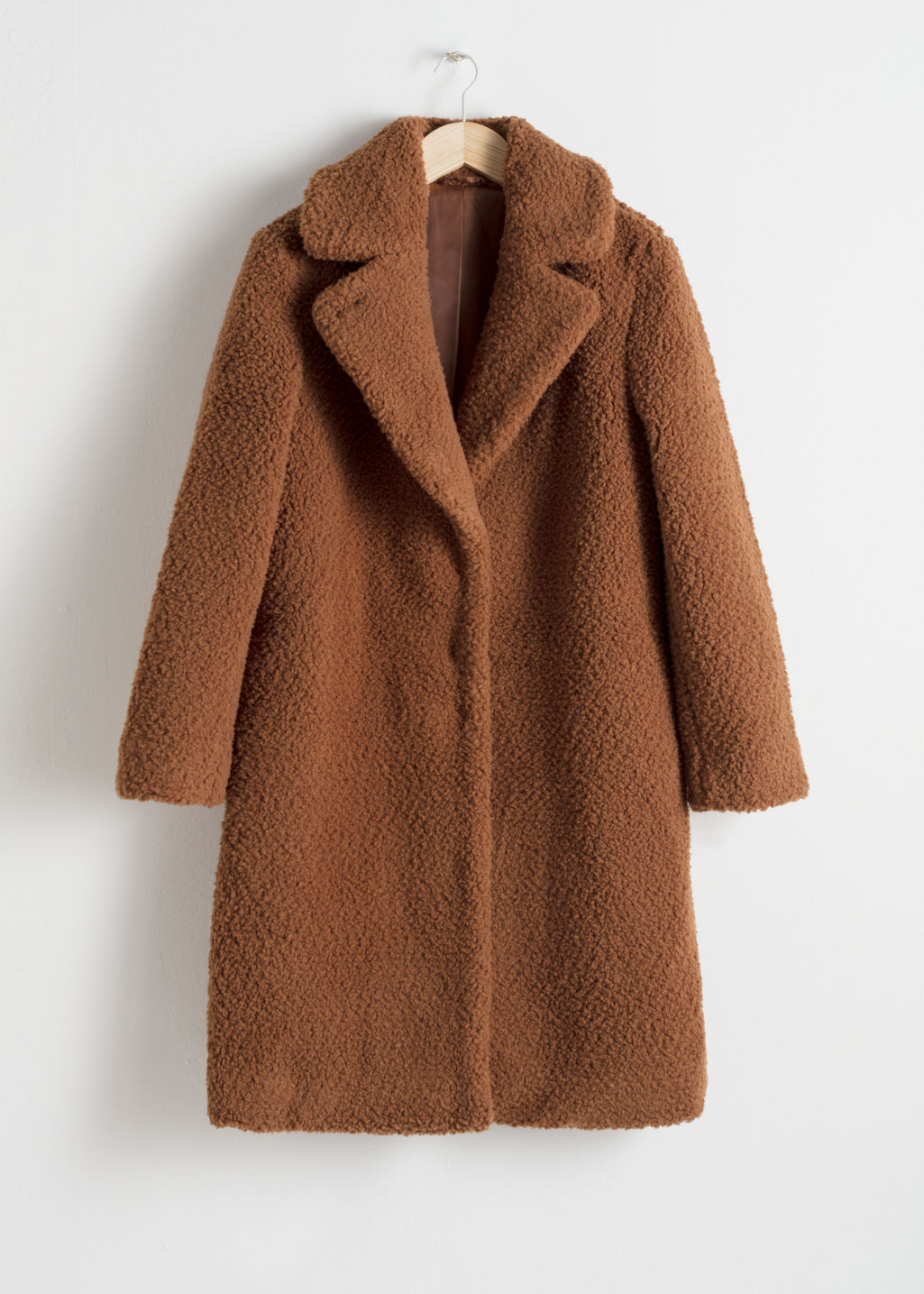 & OTHER STORIES / FAUX SHEARLING TEDDY COAT $179  -