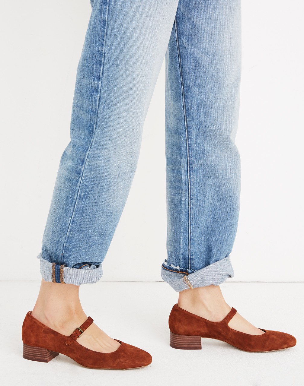 MADEWELL / THE DELILAH MARY JANES IN SUEDE $98 -