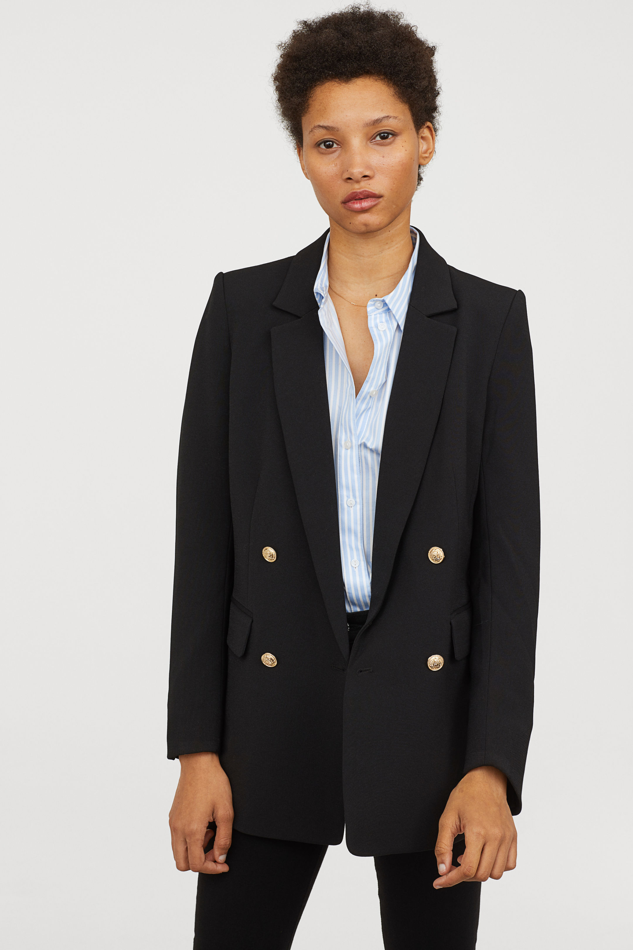 H&M / DOUBLE-BREASTED BLAZER $49.99  -