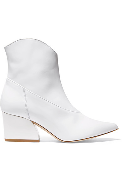 TIBI / DYLAN PATENT LEATHER ANKLE BOOT $695 - available at Net-a-porter
