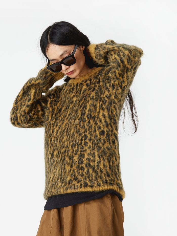 NEEDLES / LEOPARD MOHAIR SWEATER $419.25 - available at Goodhood