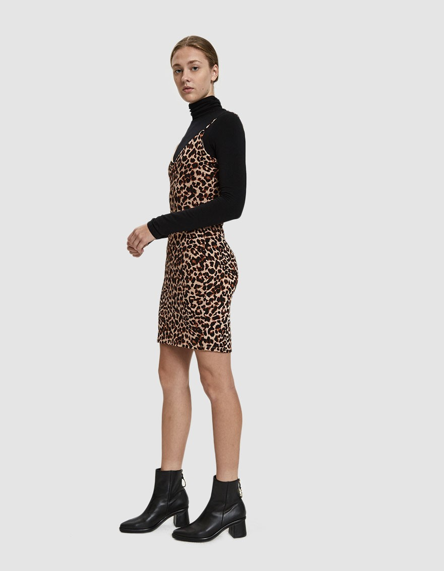 STELEN / JANET LEOPARD MINI DRESS $50 - available at Need Supply