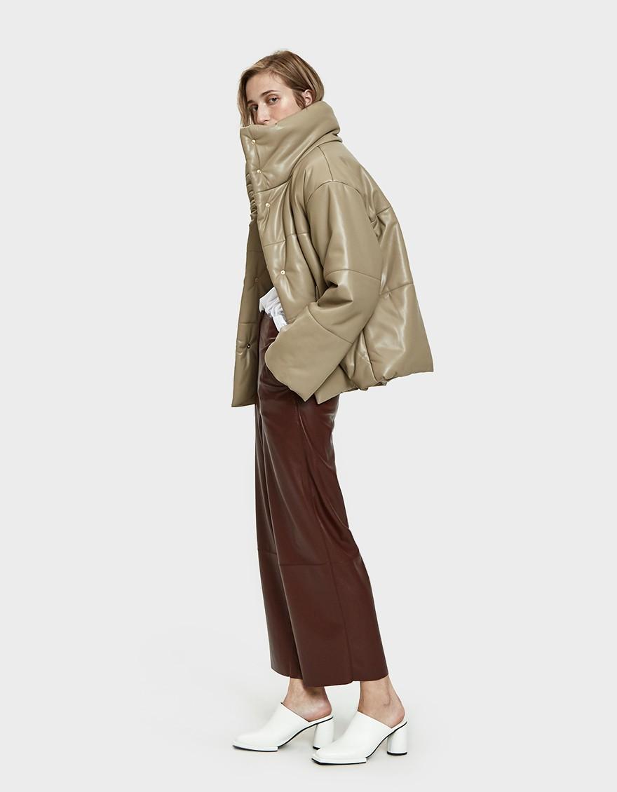 Hide Vegan Leather Puffer Coat by Nanushka