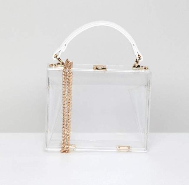 ASOS / CLEAR PLASTIC CLUTCH BAG $48 -