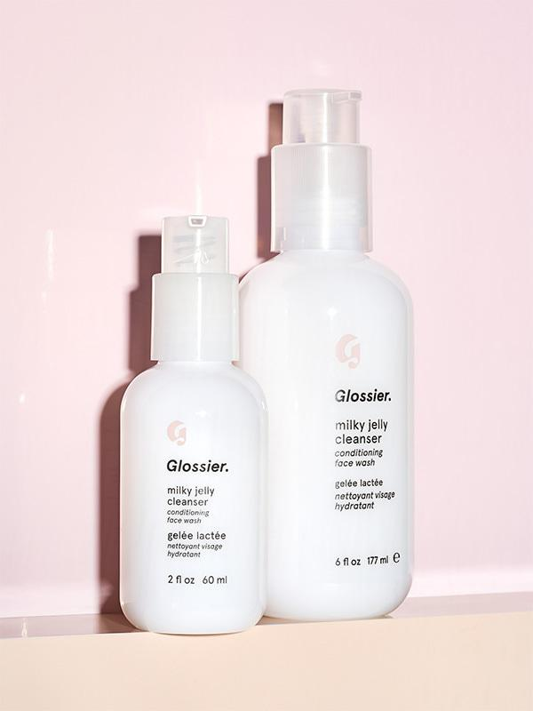 GLOSSIER / MILKY JELLY CLEANSER $18 (6 oz) - A staple in my daily routine, this pH-balanced, creamy gel formula is made with a blend of five skin conditioners so your face is left feeling healthy and soft, never tight.