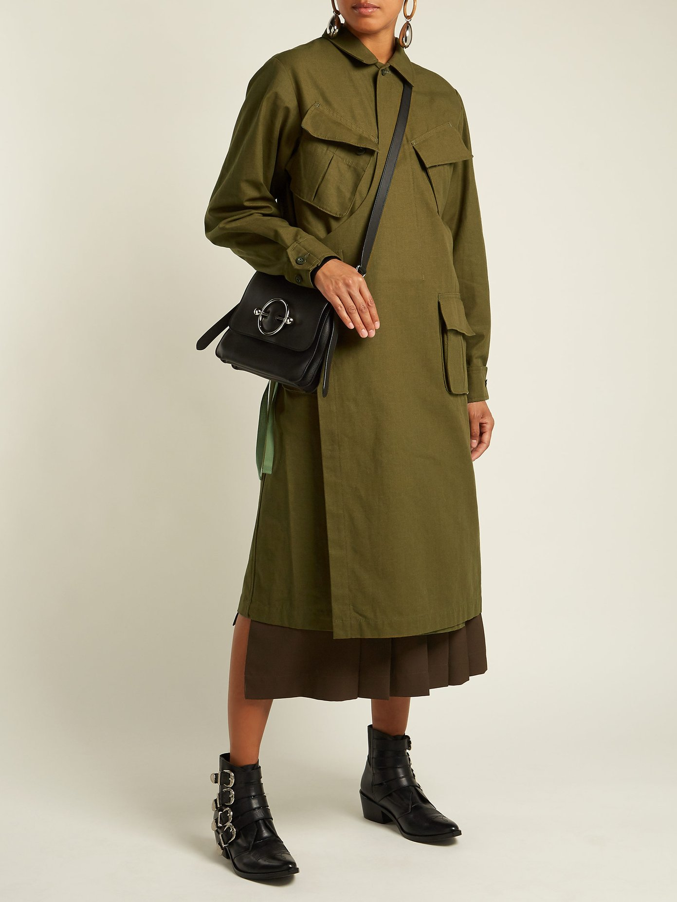 TOGA / WRAP-FRONT COTTON COAT $568 - available at Matchesfashion