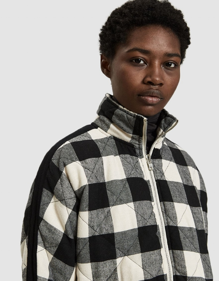 Ayda quilted plaid jacket by Farrow