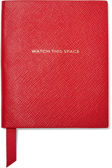SMYTHSON / PANAMA WATCH THIS SPACE TEXTURED LEATHER NOTEBOOK $125 - available at Net-a-Porter