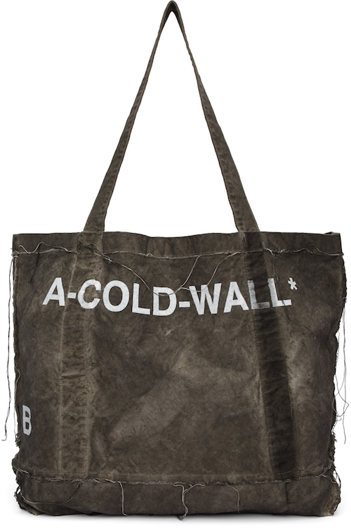 A-COLD-WALL / GREY CANVAS TOTE $217 - available at SSENSE
