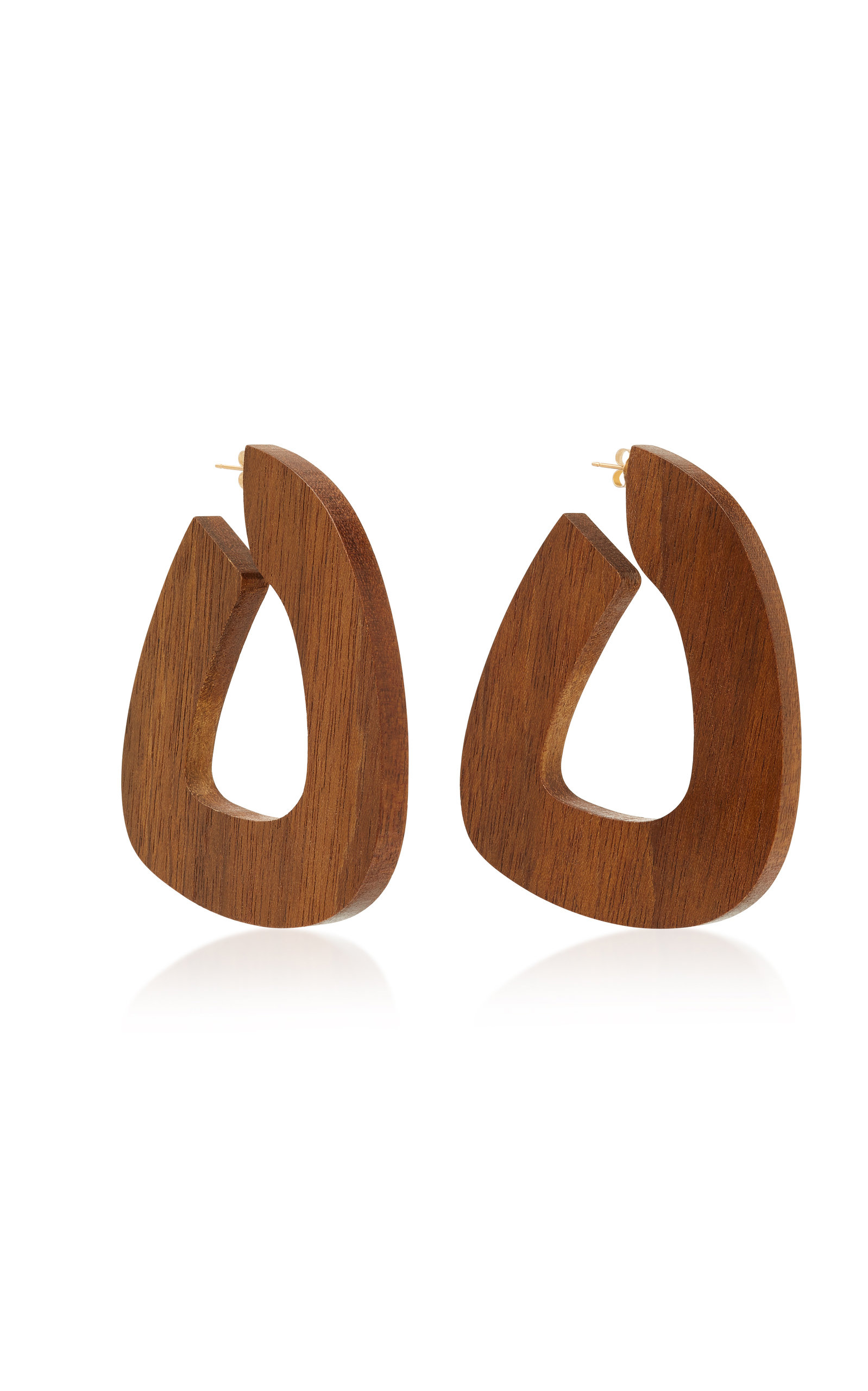 Bell Shedua Wood Earrings by Sophie Monet