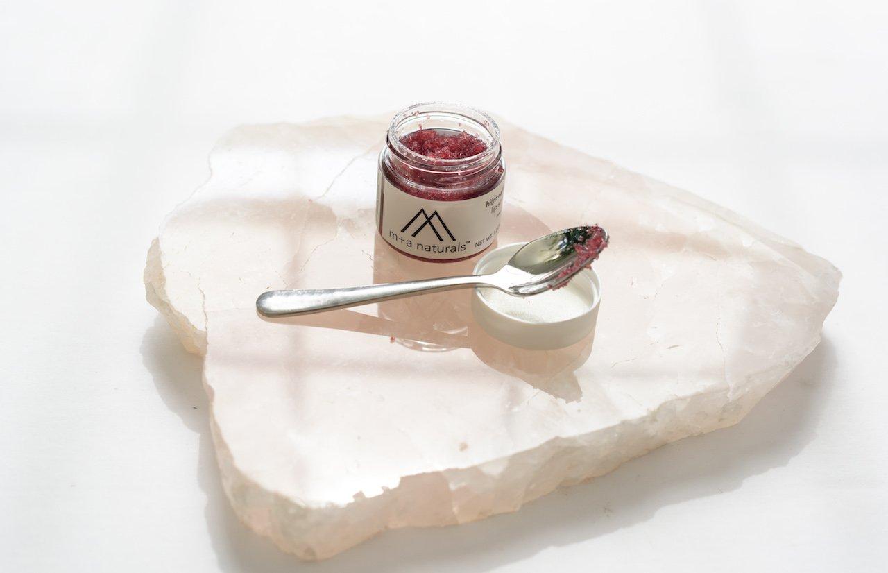 M+A Naturals Rose Lip Scrub by Moonbox