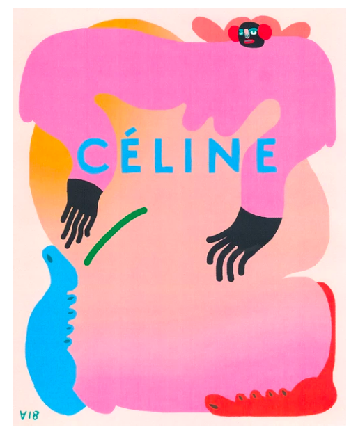 """AMBER VITTORIA / I MISS THE OLD CÉLINE PRINT $78.99 (MED 17"""" X 20"""") - available at Society6"""