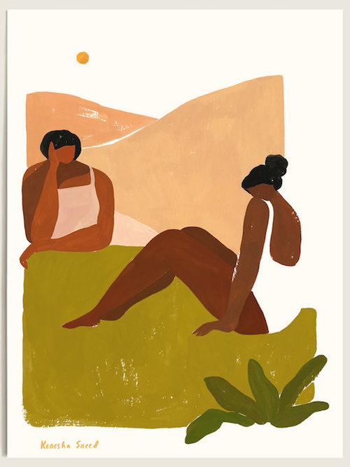 """KENESHA SNEED / 'LEANING IN' PRINT $65 (11"""" X 14"""") - available at TactileMatter.com"""