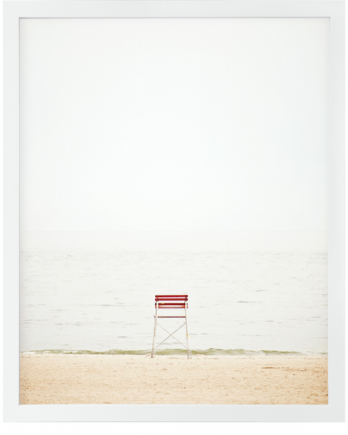 """STEPHANIE SHERMAN / 'EMPTY SEASCAPE' $395 (20.75"""" X 16.75"""")  - available at Serena & Lily"""