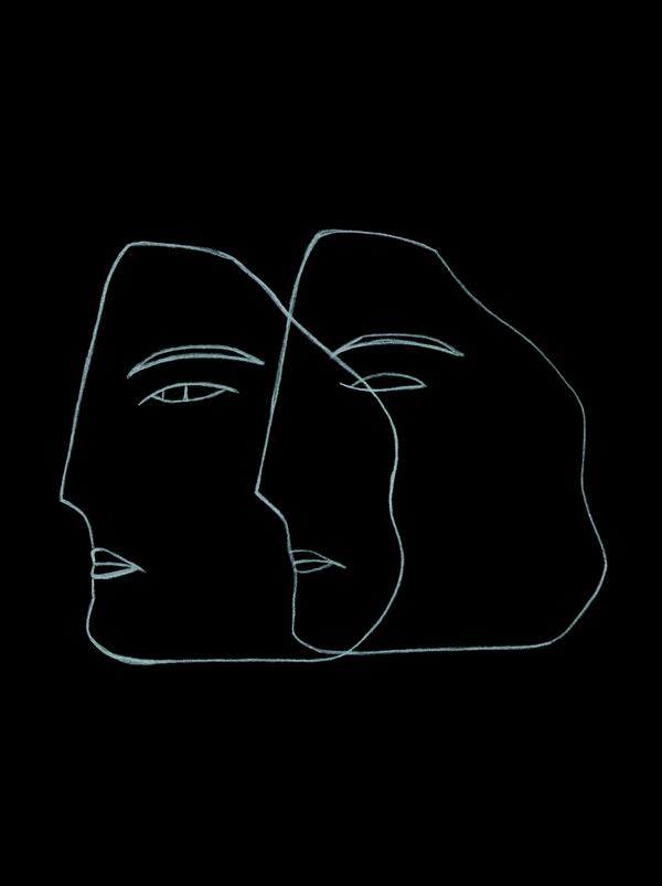 "NADIUSKA AND PRISCILA FURTADO / 'PENUMBRA' *WHITE PENCIL ON BLACK PAPER $64 (16"" x 20"")  - available at Artfully Walls"