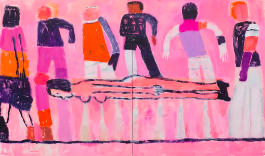Katherine Bradford, All Of Us 2018 at Art Basel Miami