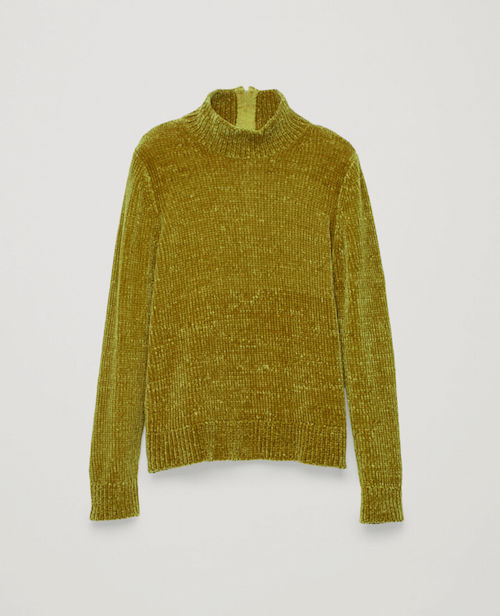 COS / CHENILLE JUMPER WITH ZIP $99 -