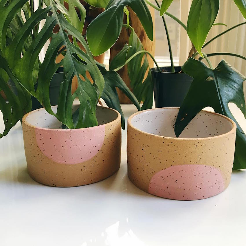 Colored Dot Pots by Mimi Ceramics // DNAMAG