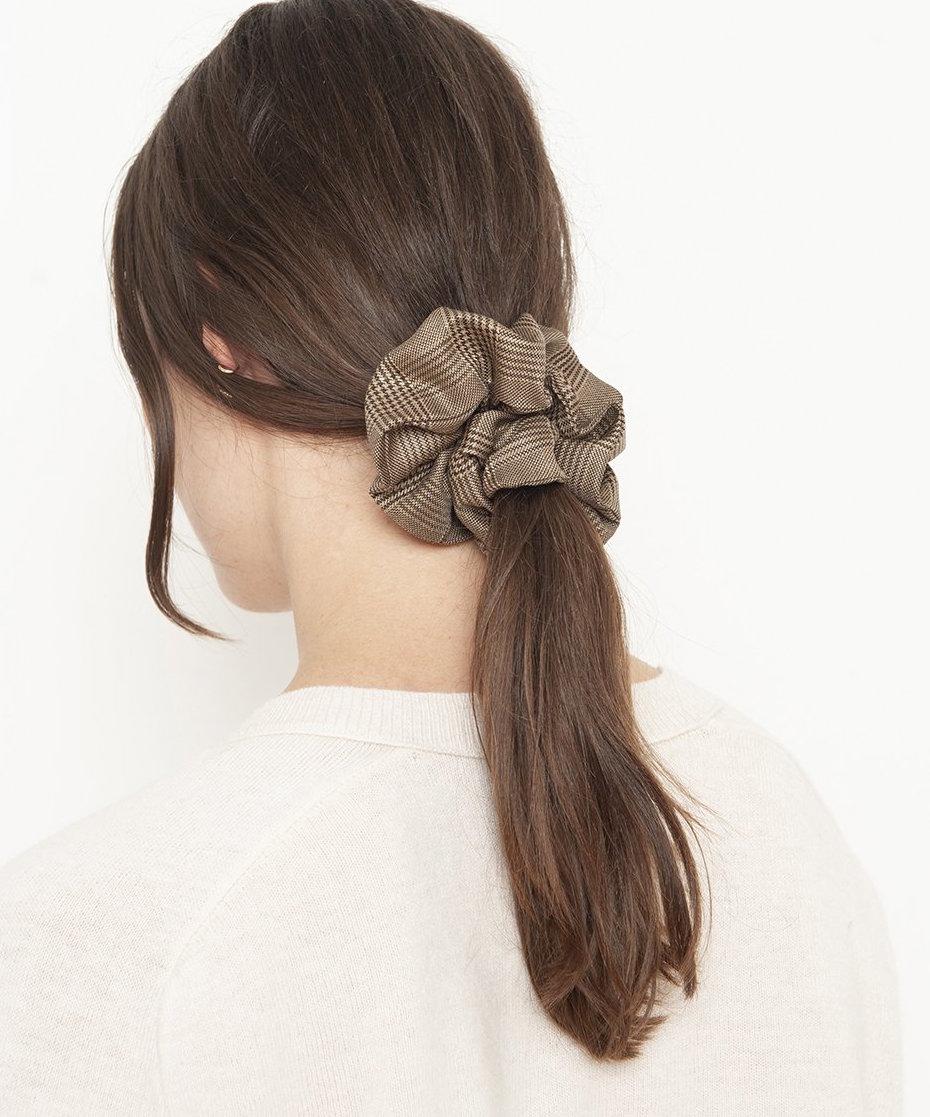 Ganni hazelnut scrunchie in 5 Good Things Under $50 // DNAMAG